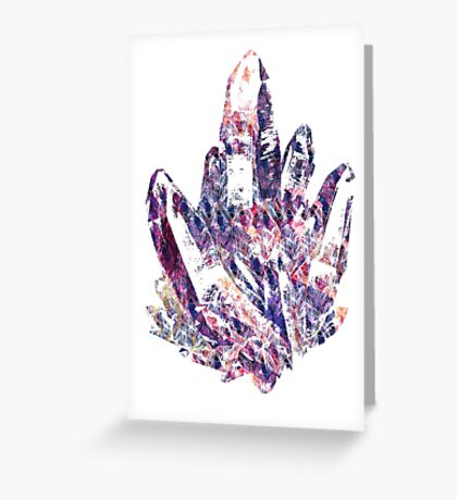 Warm Pencil Scratch Crystal Greeting Card