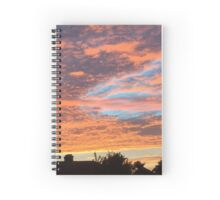 Painted clouds over the rooftops Spiral Notebook