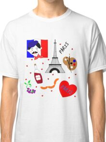 Fun Cute Paris City Themed Design Classic T-Shirt
