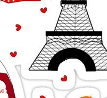Fun Cute Paris City Themed Design Sticker
