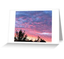 Red sky in the morning...... Greeting Card