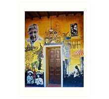 Mural from Parral, Mexico Art Print
