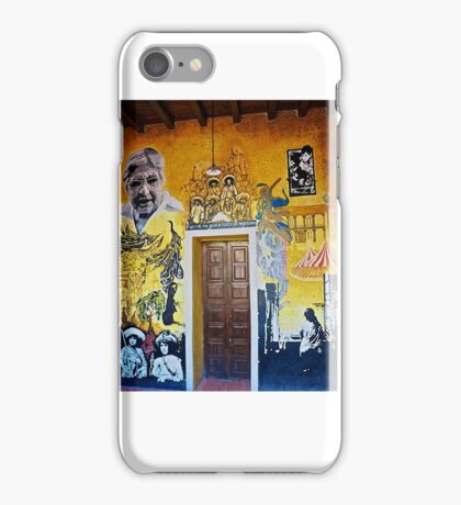 Mural from Parral, Mexico iPhone Case/Skin