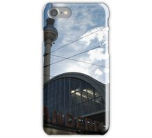 Fernsehturm Berlin above Alexanderplatz iPhone Case/Skin