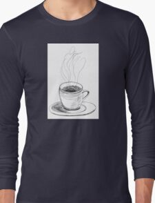 Coffee in a demitasse Long Sleeve T-Shirt