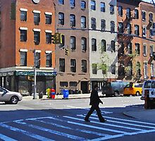 Crossing the street in Gramercy by Danny Drexler