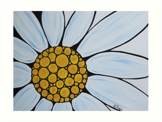 Big White Daisy by Sharon Cummings