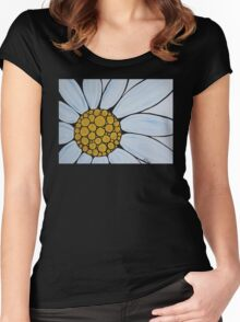 Big White Daisy Women's Fitted Scoop T-Shirt