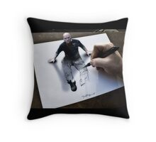 Im not a bad guy, im just drawn that way Throw Pillow