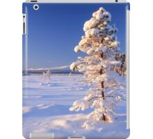 Snow covered trees in north Sweden iPad Case/Skin