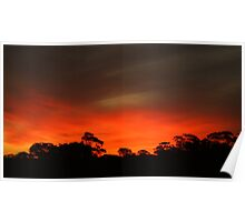 outback sunset 2 Poster
