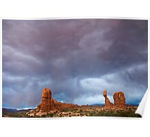 Storm Over Balanced Rock Poster