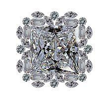 Gift Diamond Brooch by eldonshorey