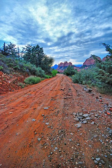 A Sedona Road by Barbara Manis