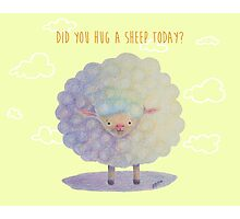 Happy Sheep Photographic Print
