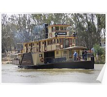 Emmy Lou Paddle Steamer Echuca Poster