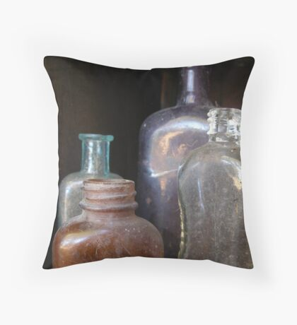 Bottled History Throw Pillow