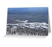 Big White Village Greeting Card