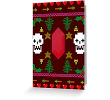 Video Game 8-Bit Holiday Sweater Greeting Card