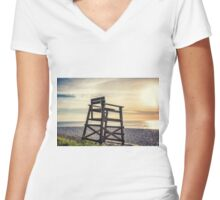 EMPTY CHAIR Women's Fitted V-Neck T-Shirt