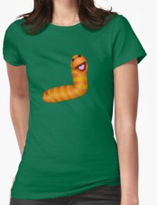 A fuzzy little worm Womens Fitted T-Shirt