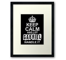 Keep calm and let Gabriel handle it Framed Print