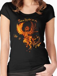Fall Out Boy - The Phoenix - Then I'll Raise You Like A Phoenix Women's Fitted Scoop T-Shirt