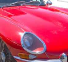 Red 1964 Jaguar XKE Antique Sportscar Sticker