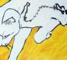 The White Cat Sticker