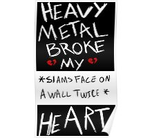 Fall Out Boy Centuries - Heavy Metal Broke My Heart Poster