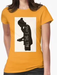 Harry Silhouette Womens Fitted T-Shirt