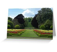 Going for a stroll in picturesque landscaped gardens  Greeting Card