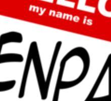 Hello, My Name Is Senpai Sticker