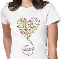 Byron Bay Captured - Love Heart Womens Fitted T-Shirt