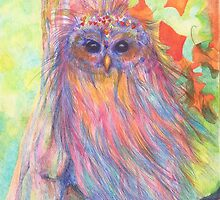 Colourful Owl  by Monica Batiste