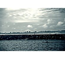 Row Against Clouds Photographic Print