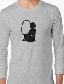 Catgirl Pin Up Silhouette Long Sleeve T-Shirt