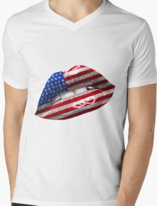 American Flag Graphic Design T-Shirt