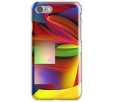 Computer Generated Abstract Fractal Flame iPhone Case/Skin
