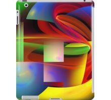 Computer Generated Abstract Fractal Flame iPad Case/Skin