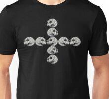Granite Skull Stack (Cross) Unisex T-Shirt