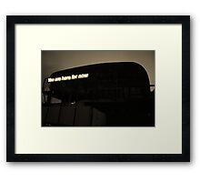 Abandoned movie theather, Beirut. Framed Print
