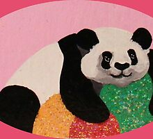 Gumdrop Protecting Panda by SequinPalette