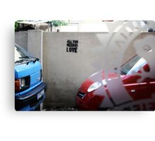 Love on the streets, Hamra. Canvas Print
