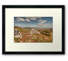 Glen Hill View Framed Print