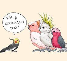 Cockatiel is a cockatoo too! by phatbird