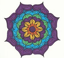 Mandala Drawing #20 Original Design by TAM by Michelle Clifton