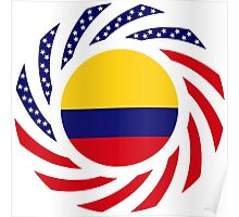 Colombian American Multinational Patriot Flag Series Poster