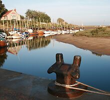 Blakeney bollard North Norfolk by Paul Pasco