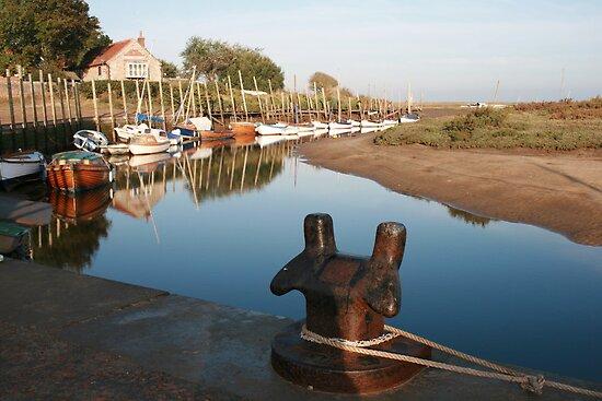 Blakeney bollard North Norfolk by Paul Pasco